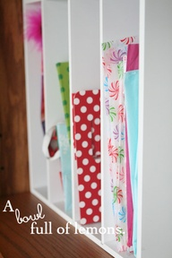 Gift wrap station -