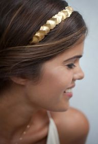 Diy gold leaf headba