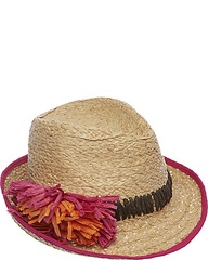 FEDORA WITH RAFFIA FLOWER