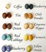 natural egg dyes / j