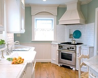 Kitchen- White cabin