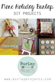 More Holiday Burlap
