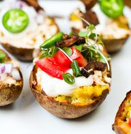 Vegan Potato Skins!