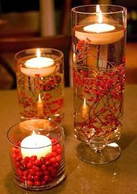 Holiday candle fille
