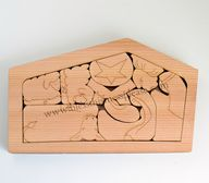 Cedar Wood Nativity
