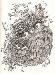 Owl mommy loves owl...