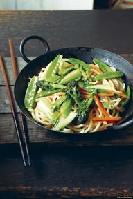 stir fried udon nood