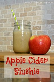 Apple Cider Slushie.