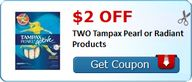 $2.00 off TWO Tampax