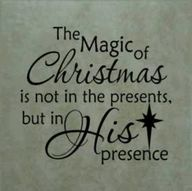 The magic of Christm
