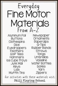 Fine Motor Materials