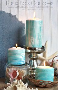 Faux Bois Candles -