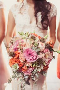 pink and peach bouqu