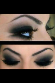 Smokey eyes. Cute. G