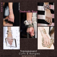 Cinderella Story  Transparent Cuffs & Bangles Trend for Spring Summer 2013.   Valentino, Michael Kors, Alberta Ferretti,  Dior Spring Summer 2013.  #bag #accessory #trends