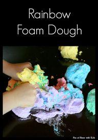 Rainbow Foam Dough r