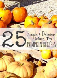 25 Must Try Pumpkin