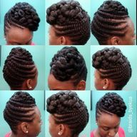 Flat Twisted updo by