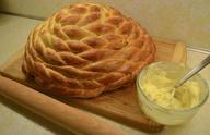 Braided honey bread