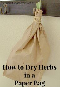 Drying herbs in a br