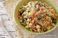 Easy quinoa with roa
