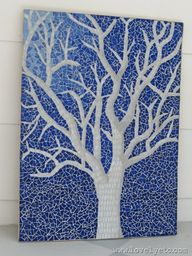 Glass tile mosaic -