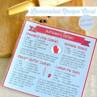 Recipe Card DIY With