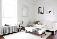 white + modern livin