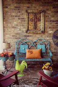 Cozy Fall porch - De
