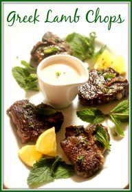 Greek Lamb Chops wit