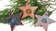Three Ceramic Star O