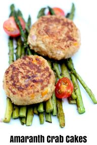 Amaranth Crab Cakes