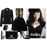 """""""gothic chic"""" by initag on Polyvore"""