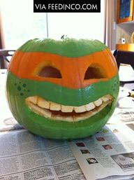 fun pumpkin TMNT