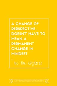 A change of perspect
