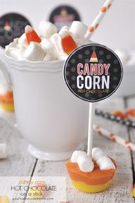 Candy Corn Hot CHoco