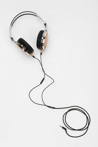 Wooden headphones --
