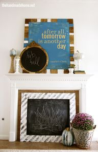 fall mantel art | th