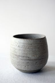 stoneware grey bowl