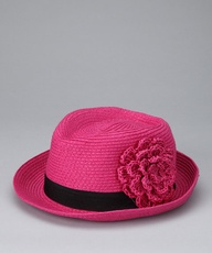 Hot Pink Flower Fedora from David & Young on #zulily!