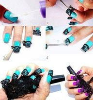 nail art with lace