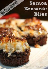 Samoa Brownie Bites: