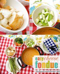 easy cheese fondue |