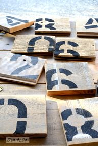Reclaimed wood numbe