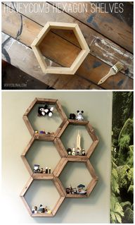 DIY Hex shelves.  LO