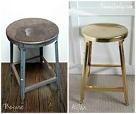 Brass-plated stool!