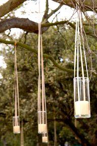 Tea candles, hung fr