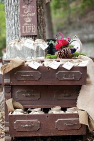 Rustic Favor Display