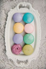 colorful macrons