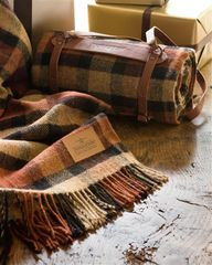 Plaid Wool Throw wit